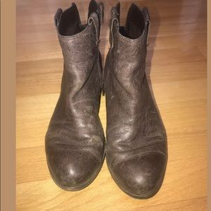 "Sam Edelman Brown leather Booties ""James"" 8"